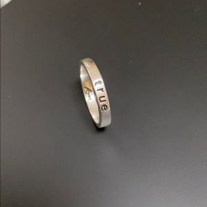 .925 Sterling Silver True Love Waits Ring